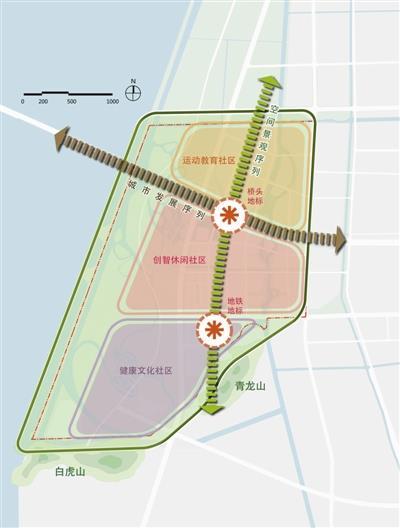 杭州:大江东桥头堡地区城市设计两方案入围